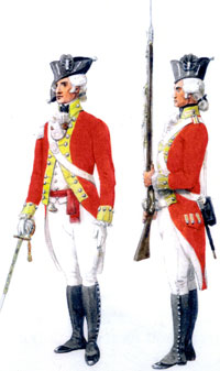 officer and private 1792